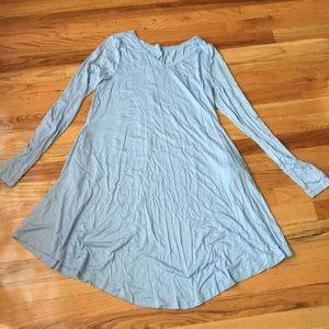 Dresses & Skirts - Long Sleeve Casual Loose Swing T-shirt Dress